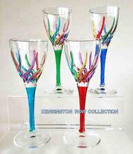 "GLASSWARE - ""VENETIAN CARNEVALE"" CORDIAL GLASSES - SET OF FOUR"