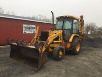 1992 John Deere 310D 4x4 Tractor Loader Backhoe w/ Cab & Extend-A-Hoe!!