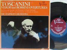 Toscanini Verdi & Rossini overtures ORIG OZ LP NM '67 RCA VIC1248 MONO Classical