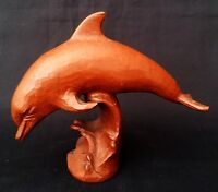 1987 Red Mill Mfg USA Pecan Shell Resin Dolphin Figure | FREE Delivery UK*