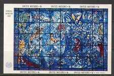 ONU (NY) 1967 VETRO COLORATO/arte/Chagall/Artisti/PEOPLE 6 V M/S (n22984)