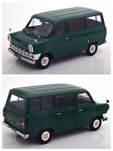 1/18 KK Scale Ford Transit MK1 Bus 1965 Dark Green Neuf Boite Livraison Domicile