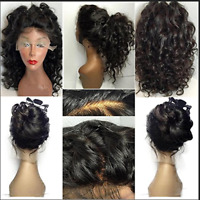 Glueless Lace Front Wig Afro Kinky Curly Hair Full Wigs Synthetic Wigs For Women