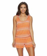 2cdcf3ceb1 Splendid Sun-Sational Women's Cover Up Romper, Grey/Orange, S