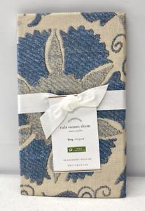 NEW Pottery Barn Tula Suzani Cotton Print KING Sham~Blue Multi