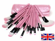 32 piece Professional cosmetic make up brush set in case PINK - GREAT VALUE