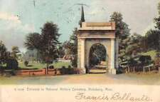 Vicksburg Mississippi Military Cemetery Entrance Antique Postcard K73352