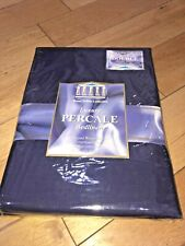 Luxury Percale Double Fitted Bed Sheet - Navy. Royal Sultan Collection. NEW.
