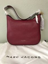 NWT $495 Marc Jacobs Gotham Women's Pebbled Leather Hobo Bag Merlot Red