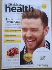 ALL ABOUT HEALTH Magazine No 32 (2017), UK. Justin Timberlake cover & inside