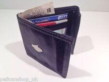 LEATHER SOFT FAUX MEN'S BOYS WALLET FOLDING BLACK COINS ZIP CARD HOLDER