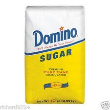 Domino Premium Granulated Pure Cane Sugar - Ten Pounds - 10 lb - FAST SHIP