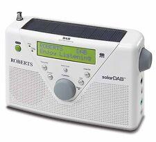 ROBERTS Solar DAB 2 White DAB FM Solar Powered Digital Radio