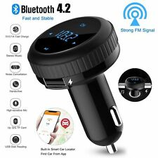 Bluetooth Car FM transmitter wireless radio adapter Charger for Samsung S9 S10