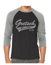 Gretsch Brooklyn 3/4 Arm Raglan Baseball Shirt Groß Heather Grau/Schwarz