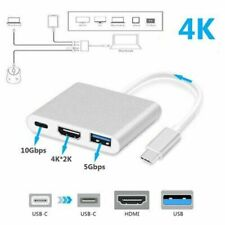 Type C USB 3.1 to USB-C 4K HDMI USB 3.0 Adapter Cable 3 in 1 Hub
