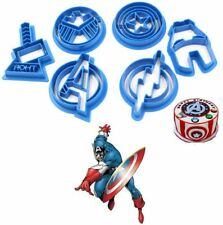 Avengers Superhero Cookie Cutter Biscuit Mould Baking Stencil Cake Set of 6
