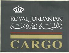 2 VINTAGE ROYAL JORDANIAN AIRLINE CARGO / FREIGHT AGENT WINDOW DECALS 6 3/4 X 9