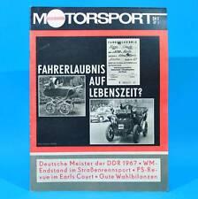 DDR Illustrierter Motorsport IMS 24/1967 MZ Skoda 1100 Straßen-WM Earls Court C