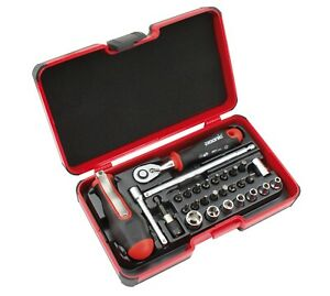 FELO 29pcs. Hand Tools Set. Ratchet, Sockets, Bits & Accessories Made in Germany