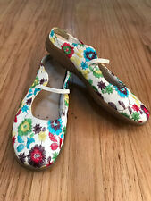 REMONTE DORNDORF Slip-On Mule Sandals Shoes 7 38 Comfort Embroidered Floral Wht