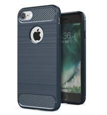 For iPhone 7 8 6 6S Carbon Fiber Armor Cover TPU Heavy Duty Hybrid Phone Case