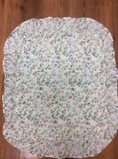 FLORAL SHAM 1 STANDARD WHITE GREEN PURPLE CUTE RUFFLE COTTAGE COUNTRY CHARM