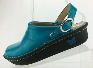 Alegria By PG Lite Louise Seville Clogs Blue Black Patent Leather Youth Size 5