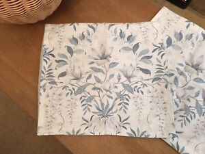 """Lovely Laura Ashley 16""""/40cm Parterre Off white/Seaspray Fabric Cushion Covers"""