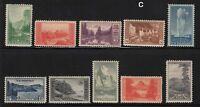 1934 National Parks Sc 740 thru 749 MNH set of 10
