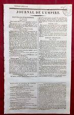 Napoléon à Vienne 1809 Autriche Ratisbonne Manifeste Cours de Vienne Empereur