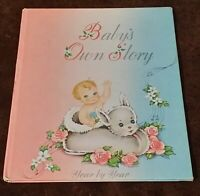Vintage 1947 Unused Baby Record Book Baby's Own Story Year by Year New/Unused