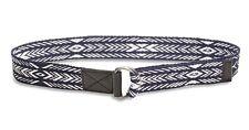 Lucky Brand - Men's 40 - NWT$39 Navy Geometric Diamond Ikat Fabric/Leather Belt