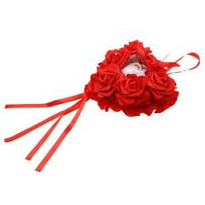 Wedding Favors Hang Ring Pillow Cussion With Transprent Box Heart Design Red