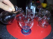 Lot de 6:Petit Pichet Bistrot 17.5cl pour Service Vin au Verre en Auberge