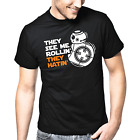 They See Me Rollin' They Hatin' Star Wars Satire Parody Patter Fun T-Shirt