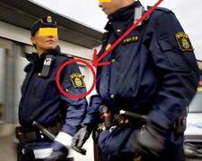 FANCY DRESS COSTUME movie GIRL PLAYED w/FIRE PROP: SWEDISH POLICE Polisen SSI
