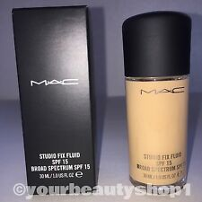 New Mac Foundation Studio Fix Fluid Foundation  SPF 15 NW15 100% Authentic