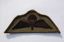 British Army Parachute Wings- Subdued Patch -  No37