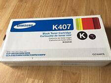 Samsung K407 Black Toner Cartridge CLT-K407S CLP CLX Series Genuine Unopened