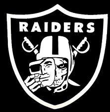 "Raiders Skull Vinyl Decal Sticker Raider Nation, Window 12X11.3"" RN4L Black Hole"