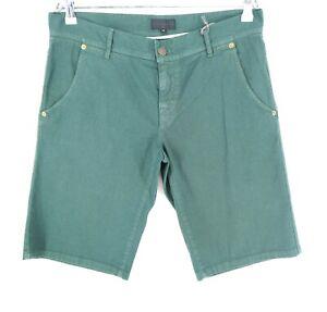 John RICHMOND X Green Denim Shorts Size EU 48 W32