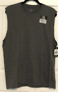 Men's Fruit Of The Loom Select Sleeveless Charcoal Gray T-Shirt Size L NWT