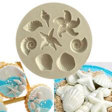 Sea Shell Silicone Fondant Mould Cake Sugarcraft Starfish Decorating Icing Mold