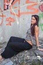 Hemp Harem Pants Hippie Black Plain Loose Boho Yoga Festival Comfy Baggy