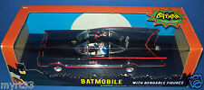 "BATMOBILE 1:24 Scale Classic TV Series with 3"" Bendabe Batman & Robin Figure  DC"