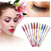 50Pcs Disposable Mascara Wands Makeup Brush Eyelash Brushes Spoolies Applicator-