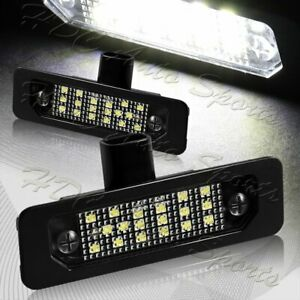 For Ford Mustang/Focus/Fusion/Taurus White LED 6000K License Plate Lights 2pcs