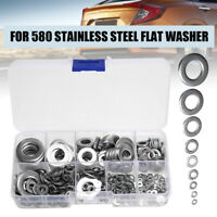 580x Stainless Steel Flat Washers Kits Fit For M2 M2.5 M3 M4 M5 M6 M8 M10 M12