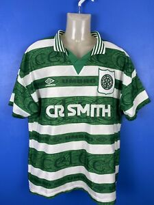 Celtic FC 1995/97 home football soccer shirt jersey large